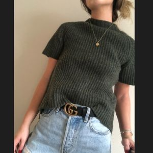 Lucky brand short sleeve wool sweater XS
